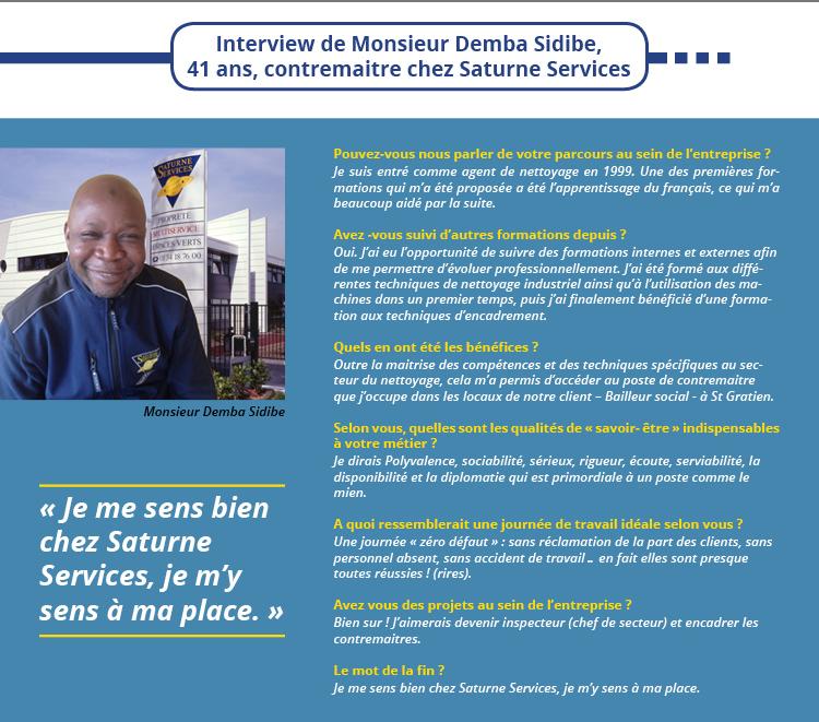 Interview de monsieur Demba Sidibe