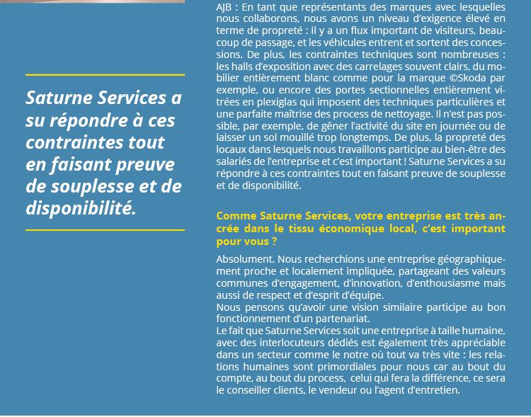 Interview de MME JALLU-BERTHIER responsable travaux et immobilier des concessions Dacy Motors et Courtoise Motors